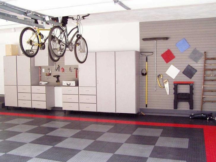 Easy Storage Garage Ideas with cabinet