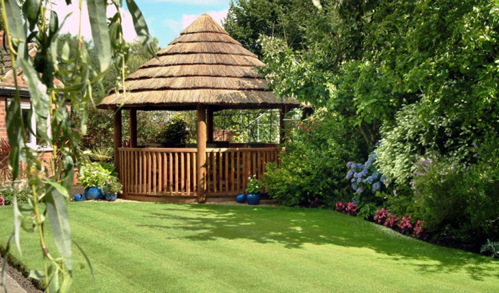 Unique and Comfortable Garden Gazebo Design by Breeze House