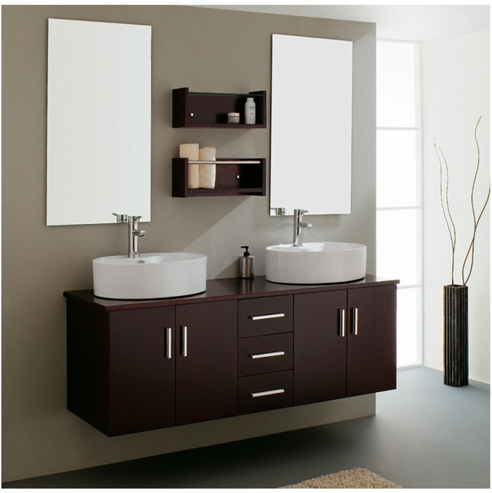 Cheap modern bathroom vanity cabinet for Cheap bathroom pictures