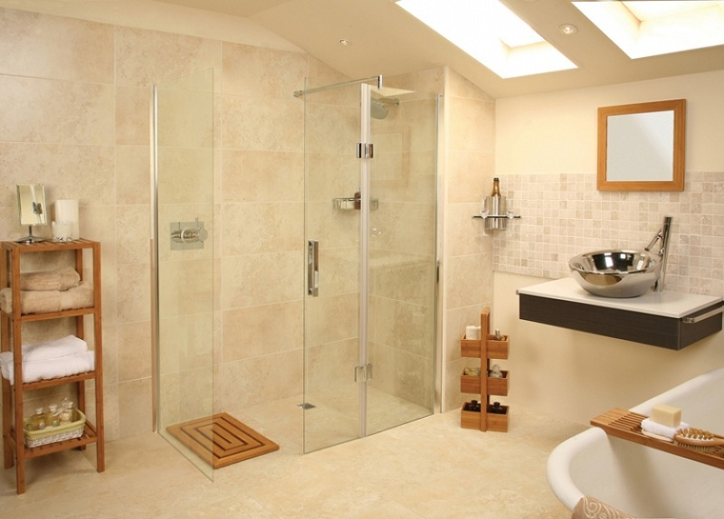 Home decor ideas cool walk in shower for Cool bathroom remodel ideas