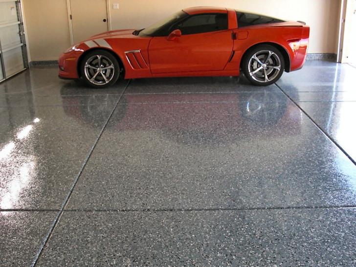 elegant epoxy tile for garage florr