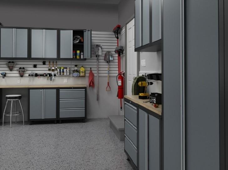 grey garage storage design ideas