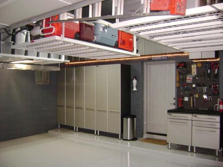 modern diy overhead garage storage ideas