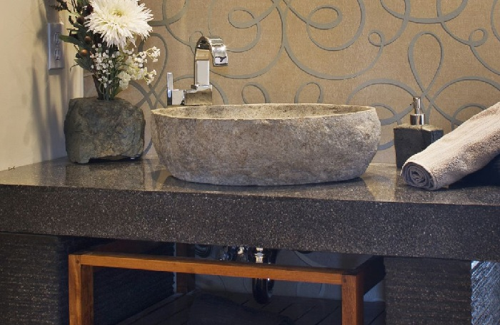 Single Stone Bathroom Sink Design Ideas